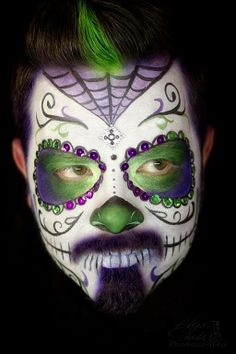Hope Shots Photography Artist Unique Irish Model Samuel H. Sugar Skull Face painting