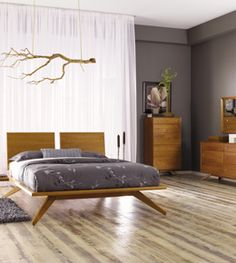 Mid Century Bedroom Furniture from Vermont.  The Astrid Collection. #bedrooms #Vermont #interiordesign