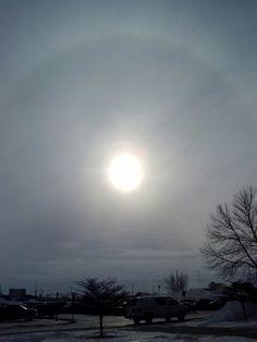 Feb 5. Clifford. High clouds cause a halo.