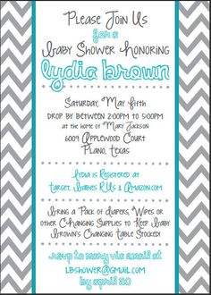 Blue and Gray or Pink and Gray Chevron Wordy by RuffledSundries, $13.00