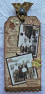 A VINTAGE HEART: Kard Krazy's Tuesday Challenge-Scrapbook Tag