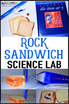 """Have your students learn about fossils and sedimentary rocks by doing this easy """"rock sandwich"""" science lab."""
