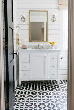 Shiplap and cement tile