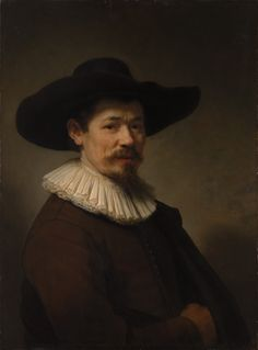 Rembrandt ~ Portret van Herman Doomer ~ Pendant van 'Portret van Baertje Martens' ~ 1640 ~ Olieverf op hout ~ 75,2 x 55,2 cm. ~ The Metropolitan Museum of Art, New York