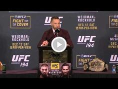Free Video - UFC 194: Conor McGregor Post-fight Press Conference Highlights