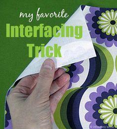 My Favorite Interfacing Trick - Betz White