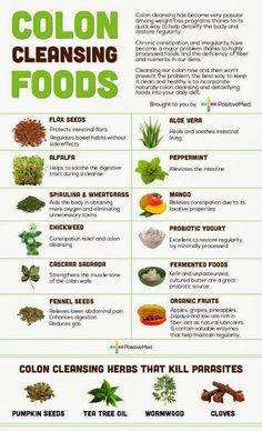 Diva Flaco Dieta: Infografía: limpieza de colon Alimentos