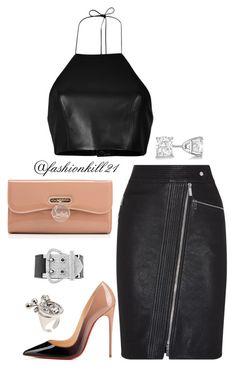 """Untitled #1209"" by fashionkill21 ❤ liked on Polyvore featuring rag & bone, Karen Millen, Christian Louboutin, Hermès, Allurez, Maison Margiela, women's clothing, women, female and woman"