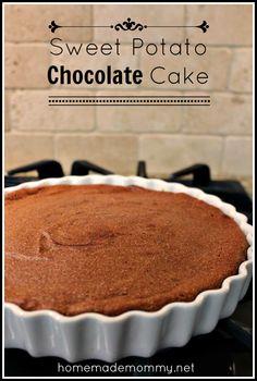 Sweet Potato Chocolate Cake - use water instead of cream for the ganache to make it #dairyfree  #food #grainfree #glutenfree #dessert #cake #chocolate #sweetpotato