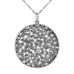 Blue jade sterling silver and marcasite bird pendant necklace sterling silver and marcasite round medallion pendant necklace price 14849 http aloadofball Image collections