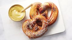 Martha Stewart's soft pretzel recipe for homemade chewy pretzels appears in the Pulled Dough episode of Martha Bakes on PBS.