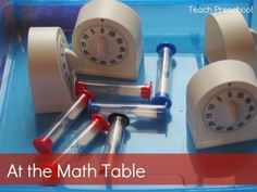 Invitation to Play at the Math Center from Teach Preschool