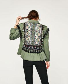 Zara Woman Embroidered Parka Jacket on Mercari 80s Fashion, Fashion Killa, Korean Fashion, Boho Fashion, Fashion Dresses, Vintage Fashion, Fashion Tips, Fashion Trends, Fashion Design