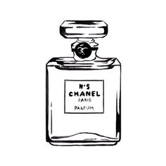 Chanel Perfume Bottle, White Space Watercolor Fashion Illustration,... ($10) ❤ liked on Polyvore featuring home, home decor, wall art, fillers, drawings, art, drawn fillers, doodle, borders and phrase