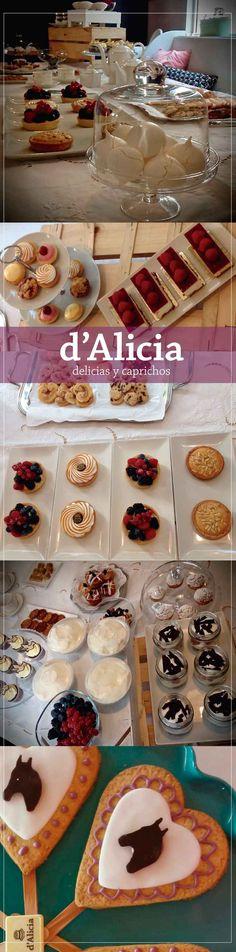 Prepara tu mesa dulce para cumpleaños, bautizos, comuniones, boda, eventos. Tartas, galletas, tartaletas, pasteles, pastelitos, helado, muffins, magdalenas.