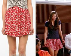 Two episodes in, and already I'm head-over-heels for Marley's sweet, girly wardrobe (fake-J. Crew or not!).Her 'Everytime' skirt is printed with dozens of tiny flying ducks. Urban Outfitters Kimchi Blue Soft Woven Full Skirt - $39.00 Worn with:Dogeared necklace,Chan Luu bracelet,JanSport backpack Also worn in: 4x05 'The Role You Were Born To Play' with Vera Bradley cosmetic bag,JanSport backpack,Chan Luu bracelet