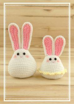 Easter Crochet, Crochet Bunny, Crochet Animals, Crochet Toys, White Bunnies, Tiny Bunny, Cute Bunny, Bunny Toys, Easy Crochet Patterns