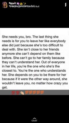 If the one person who I actually need understood this... but he won't... the one person who understands me completely doesn't understand how much I need him