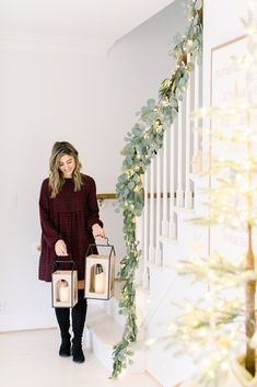 Connecticut life and style blogger Lauren McBride shares her newest QVC launch, a holiday-inspired giftable collection. Christmas Tablescapes, Christmas Mantels, Christmas Decorations, Holiday Decorating, Decorating Ideas, Decor Ideas, The Best Of Christmas, Magical Christmas, Christmas Fun