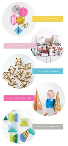 Favorite Party Ideas This Week | Oh Happy Day! Yay for the first pipe cleaner ornaments I've ever seen that are AAAAAAAWWWWesome!