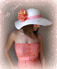 Hey, I found this really awesome Etsy listing at https://www.etsy.com/listing/183718357/tropic-beauty-white-floppy-hat-with-big