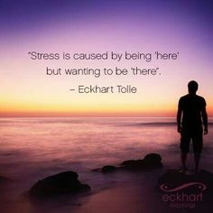 Stress (Eckhart Tolle). How very, very true for some.
