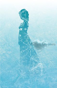 Princess Elsa Silhouette by ArtisticDreamers on Etsy, $10.00