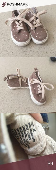 Shoes Mushroom color with gold polka dots. Suede material .... Gap Shoes