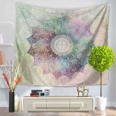 Wall Hanging Tapestries Indian Mandala Tapestry Tai Chi Hippie Bohemian Decorative Wall Carpet Yoga Mats Elegant And Sturdy Package Home