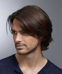 Middle Natural Straight Side Swept Fringes Men's Hairstyle Lace Front Human Wigs 8 Inches – Men's Hairstyles and Beard Models Medium Hair Cuts, Long Hair Cuts, Medium Hair Styles, Short Hair Styles, Medium Cut, Medium Brown, Plait Styles, Long Hair For Men, Medium Fade