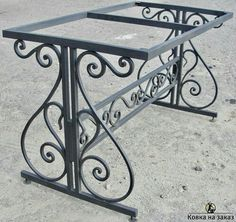 Metal table – metal of life Wrought Iron Decor, Wrought Iron Gates, Iron Furniture, Steel Furniture, Gate Design, Door Design, Steel Railing, Iron Table, Iron Work