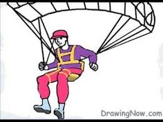Afbeeldingsresultaat voor paragliding drawing