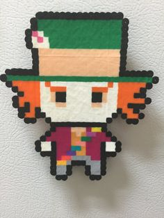 Check out this item in my Etsy shop https://www.etsy.com/listing/449867186/alice-in-wonderland-mad-hatter-perler