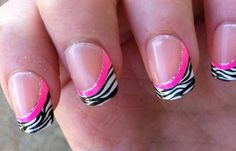 Diseños uñas de cebra, diseño de uñas cebra natural.   #uñasdecoradas #nails #uñasfinas