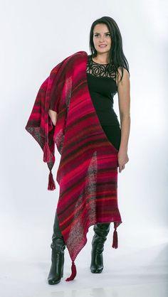 Knit shawl Large blanket scarfKnit oversized by MyCozyBoutique