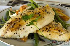 Receita de Peixe grelhado com legumes julienne em receitas de peixes, veja essa e outras receitas aqui!