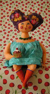 sem culpa by carol w Paper Mache Clay, Paper Mache Sculpture, Paper Mache Crafts, Clay Art, Paperclay, Oeuvre D'art, Altered Art, Art Dolls, Paper Art