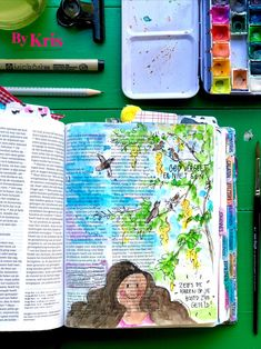 #bykris #biblejournaling #watercolorbible #bijbeljournaling #bibleart #craftbible #dutchbiblejournaling #colorbykris Bible Art, Journaling, Watercolor, Crafts, Pen And Wash, Watercolor Painting, Manualidades, Caro Diario, Watercolour