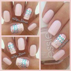 Pastel Pink nails art