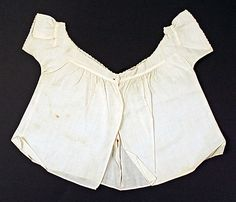 Child's early 19th c shirt. (With acknowledgment to http://www.metmuseum.org)