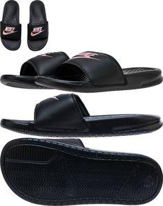 95f9c5c6b0844 Sandals 62107  Women Nike Benassi Jdi Just Do It Slides Black Rose Gold  343881 007 Sandals -  BUY IT NOW ONLY   22.99 on  eBay  sandals  women   benassi ...