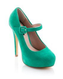 Molly - ShoeMint Stilletto Mary Janes....in green? SWOON