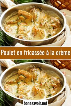Classic French Dishes, Meat Chickens, Curry, Cooking, Ethnic Recipes, Desserts, Sauce Crémeuse, Table, Cooking Recipes