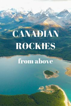 Canadian Rockies from above - Alberta & British Columbia