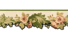 Roses CH77647DC CH77647DC Wallpaper Border is 8 inches high and 15 feet long (4.57 meters) Collection name: Floral Wallpaper Borders Pattern repeat 26.5 inches. is the best wall border for country sty
