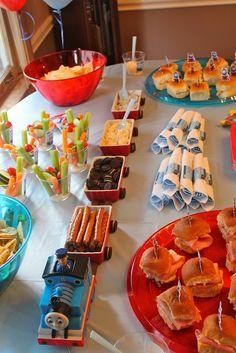 Thomas the train birthday party food holders