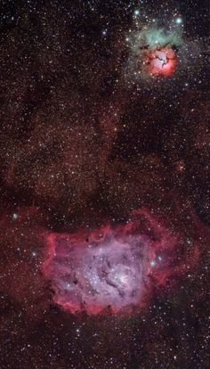 The Trifid & Lagoon Nebulae (M20 and M8) The Trifid Nebula or M20 and Lagoon Nebula or M8 is located in constellation of Sagittarius. The Nebulae is estimated to be between 4,000-6,000 light years...