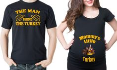 Pregnancy Couple Thanksgiving Little Turkey  Man Behind The Turkey T-shirts Funny Pregnancy Couple Tees by maternitytees on Etsy https://www.etsy.com/listing/254811828/pregnancy-couple-thanksgiving-little