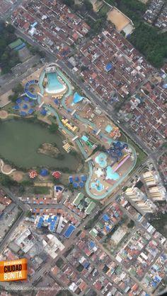 El parque Acualago visto desde el aire, espectacular !!! Gracias Mauricio Murcia (http://on.fb.me/1O5XnmP) por la foto #bucaramangabonita