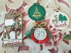Fun Tags! Some are using Merry Tags Framelits and Merriest Wishes stamp set